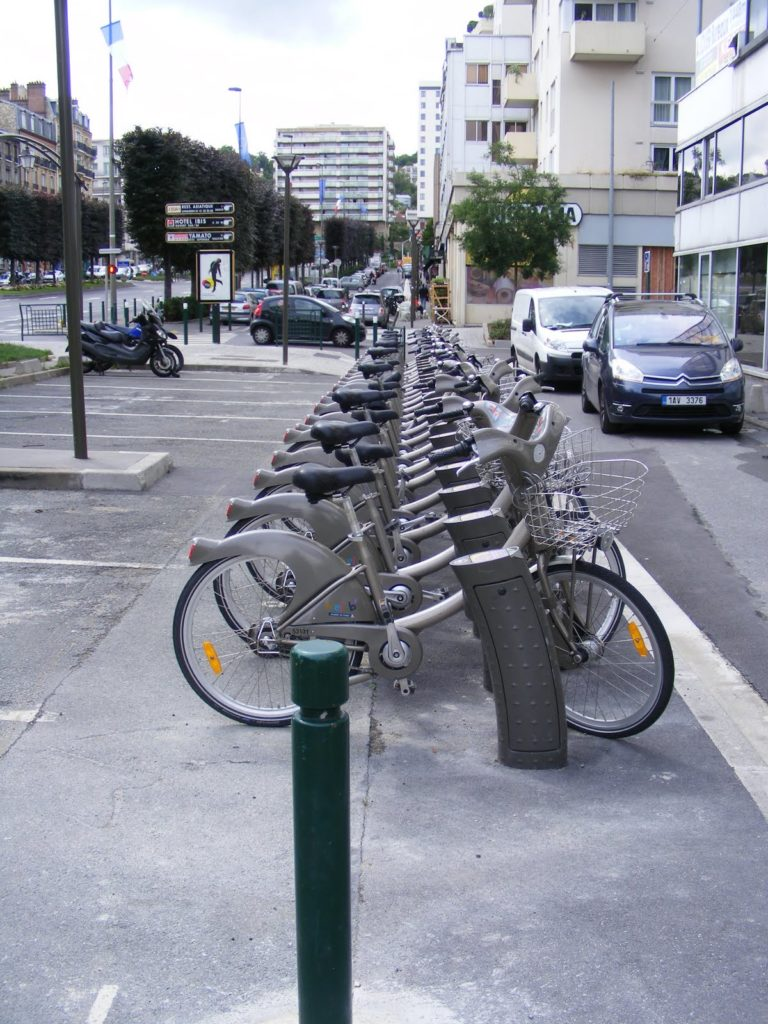 rowery w Paryżu